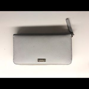 Kate Spade Zip Around Wallet in light gray